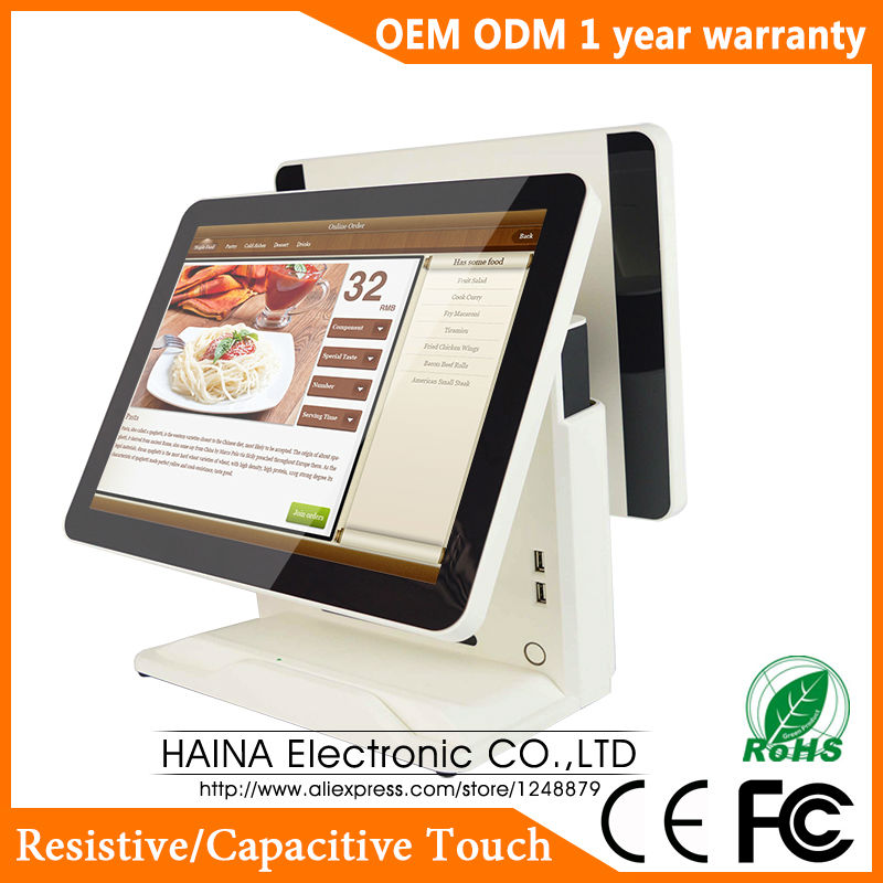 Haina Touch 15 inch Touch Screen Gas Station POS System Dual Screen POS Machine ...