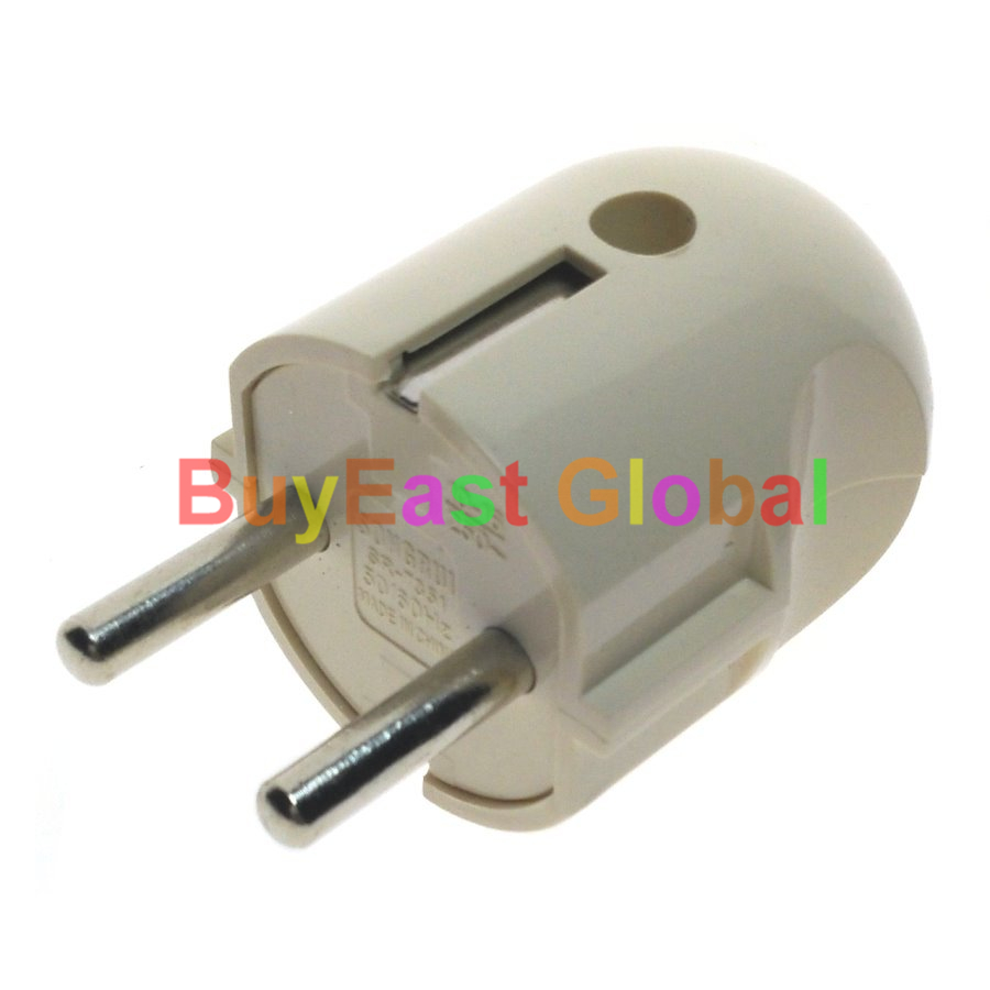 3 x Schuko Allemand 4.8mm Pin Type F de Modifier le câblage Plug Power AC100 ~ 250 V 16 Amp