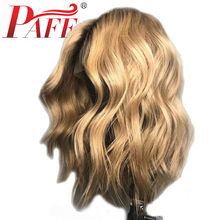PAFF 13*4 Lace Front Human Hair Wigs 150% Density 1B27 Honey Blonde Body Wave Brazilian Remy Bleached Knots With Baby