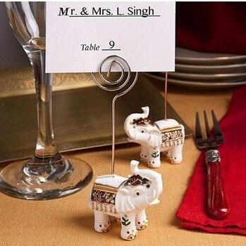 New arrival 50pcs/lot White Elephant Place Card Holder Wedding/Shower Favors