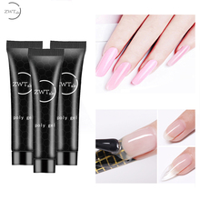 ZWTale Polygel Nail Acrylic Poly Extension Gel Pink White Clear Crystal UV LED Builder Tips Slip Solution Quick