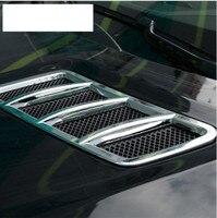 ABS Chrome Engine Roof Hood Sticker Trim For Mercedes Benz ML GL GLE GLS w166 Car Accessory 2013 2017