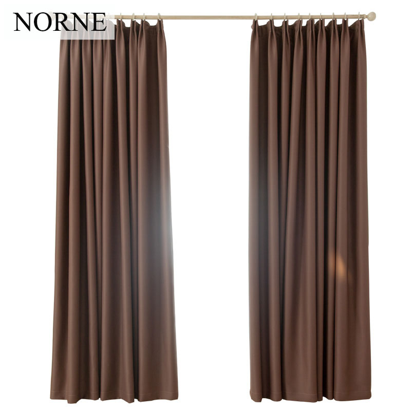 NORNE Darkening Solid Thermal Insulated Blackout Curtains