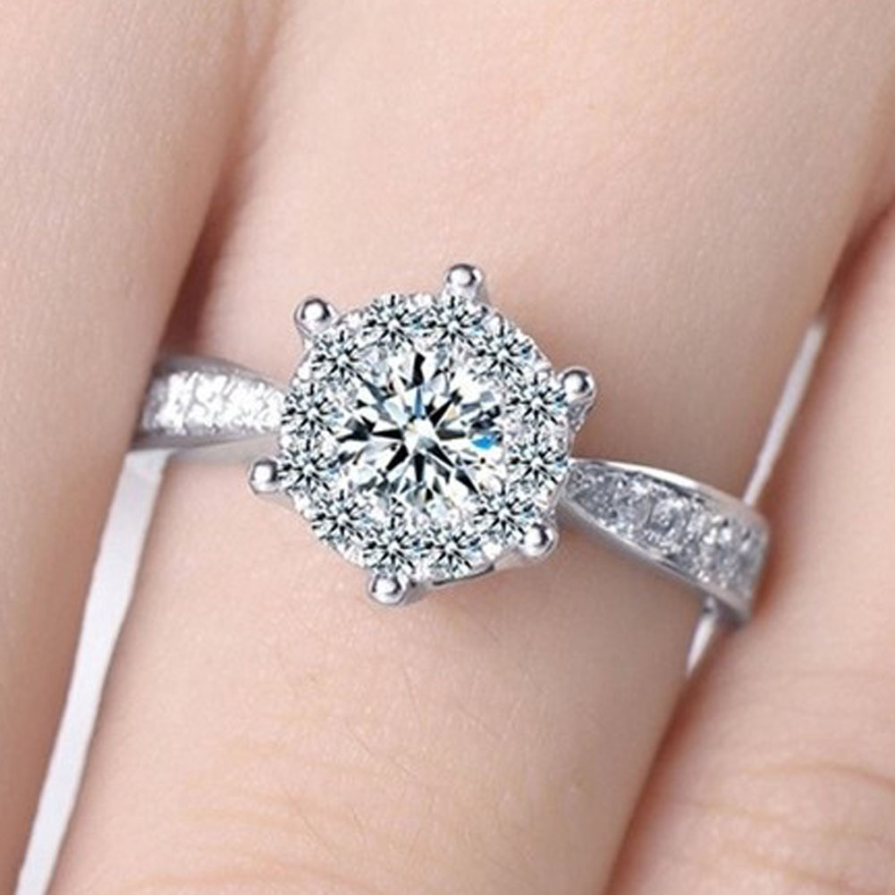 silver plated 2016 new arrival Wedding Rings For Women Luxury CZ ...