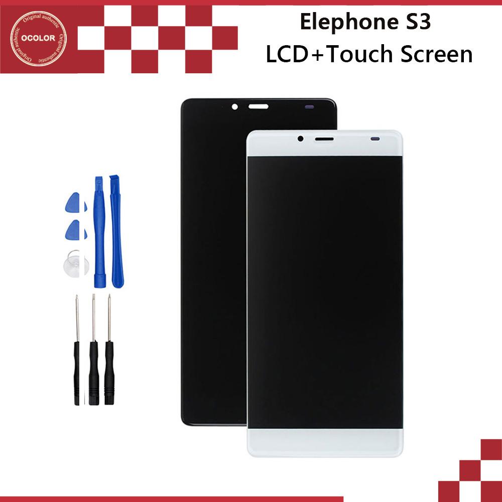 Prix pour Elephone S3 LCD Affichage et Écran Tactile Assemblée Réparation Partie 5.2 pouce Mobile Accessoires Pour Elephone S3 Téléphone Portable + Outils