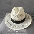 Primavera, verano, la edición de han, el nuevo Sir Crow corazón ahueca hacia fuera la correa straw hat sombrero de sol de moda para mujer sombrero del ocio del bromista