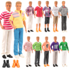 Fashion Handmade 5 Items /lot Kids Toys = 3 Ken Clothes +2 Shoes Doll Accessories For Barbie Ken DIY Game Christmas Present 1/6