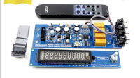 Assembeld PGA2311U Remote Preamplifier Board With VFD Display 4 Ways Input