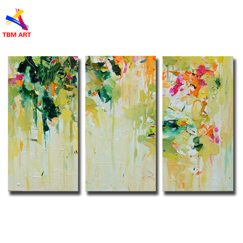 Spring Color Picture Canvas Painting 100% Handmade Modern Abstract ...