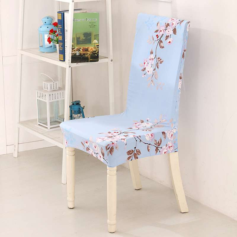Baby Blue Chair Covers Pink Desk Ikea Light Printed Series Cover Home Restaurant Flexible Install Spandex Polyester Stretch Cases 1 Piece