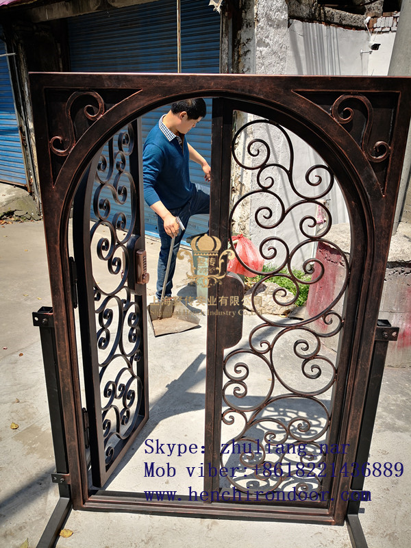 Whole Sale Best Iron Doors Iron Double Doors Iron Doors Best Price For Sale  Hc57