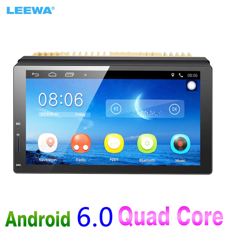 LEEWA New 7inch Ultra Slim Android 6.0 Car Media Player With GPS Navi Radio For Nissan/Hyundai All 2DIN ISO Size Car Head Unit radio pharmaceuticals and radio opaque contrast media