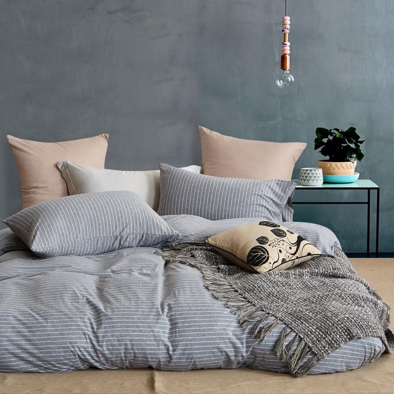 Svetanya rajutan Bedlinen Cotton Naked Bedding set twin penuh ratu - Tekstil rumah