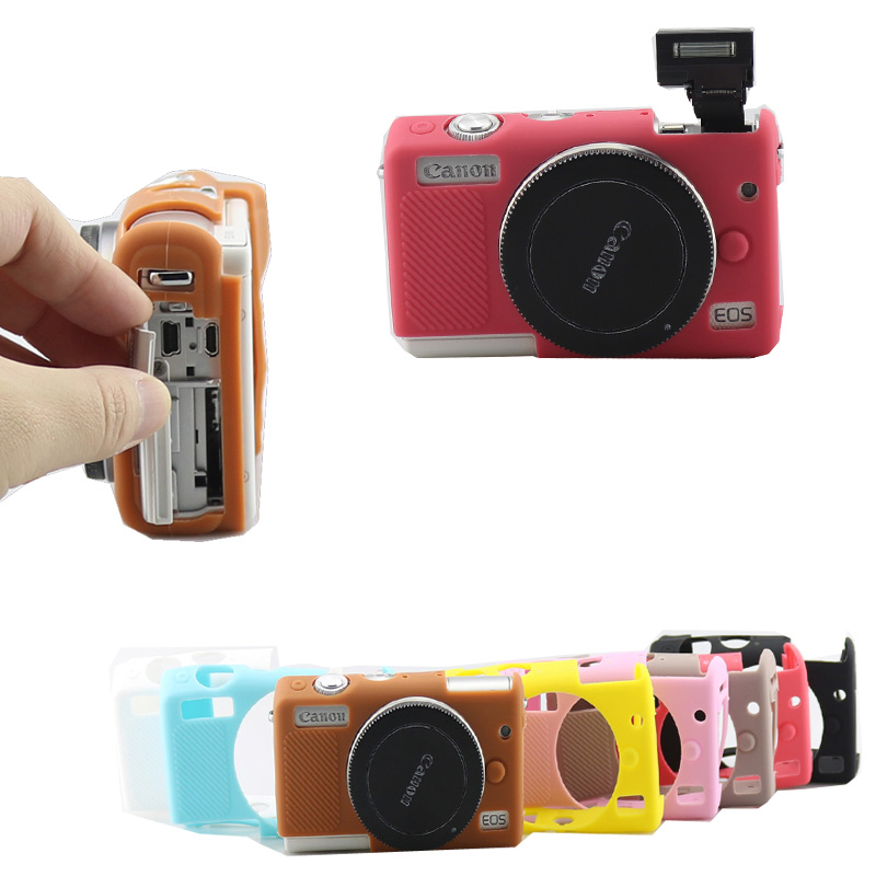 New Soft Silicone Camera Case Rubber Cover Skin Bag For Canon EOS M100 Protective Body 8 Color nintendo 2ds fashion color protective silicone soft case cover skin six colors