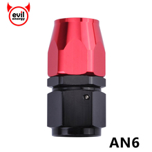 evil energy-Universal 6 AN AN-6 Straight Anoized Aluminum Swivel Hose End Oil Fuel Fitting Black&Red Cooler Adapter Kits