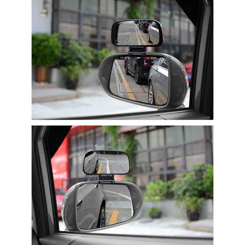 Автомобильное Зеркало для слепых зон регулируемое вращение зеркало заднего вида широкоугольный объектив для автомобиля помощь при парковке