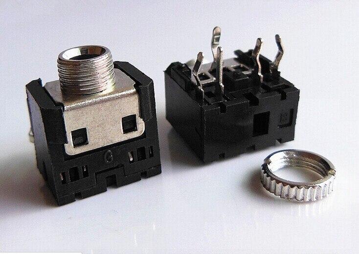 10PCS 3 5mm Female Audio Connector 5 Pin DIP Headphone Jack Socket PJ 306M