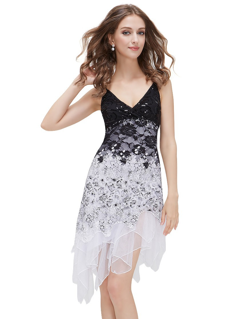 [Clearance Sale] Weddings Events Special Occasion Lace cocktail Dresses Sequin Fancy Flowing For