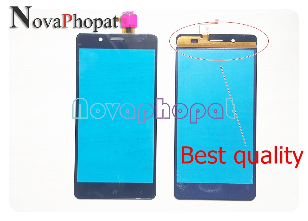 Novaphopat Black Sensor Touchscreen For BQ BQS-5515 Wide BQS 5515 Touch Screen Digitizer Screen Touchpad Replacement +tracking