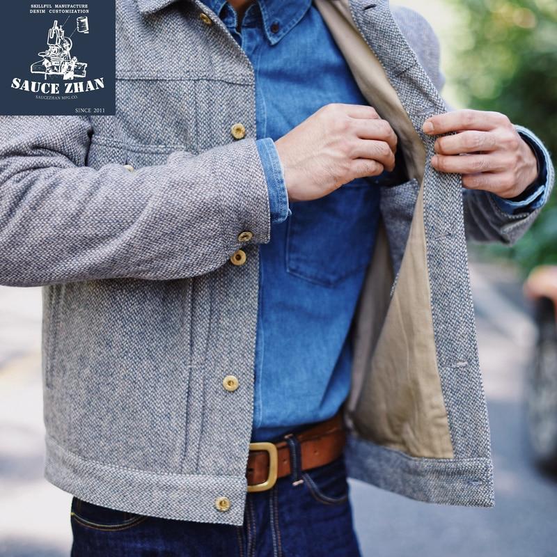 SauceZhan Wolle Jacke Winter männer Mantel Retro Jacke Kurze Wolle Jacke Herren Mäntel und Jacken Lange Mantel-in Jacken aus Herrenbekleidung bei  Gruppe 3