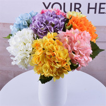 New Artificial Hydrangea Silk Fake Flowers Home Party Wedding Decoration Accessories Bridal Bouquet Girl Gift Decorative