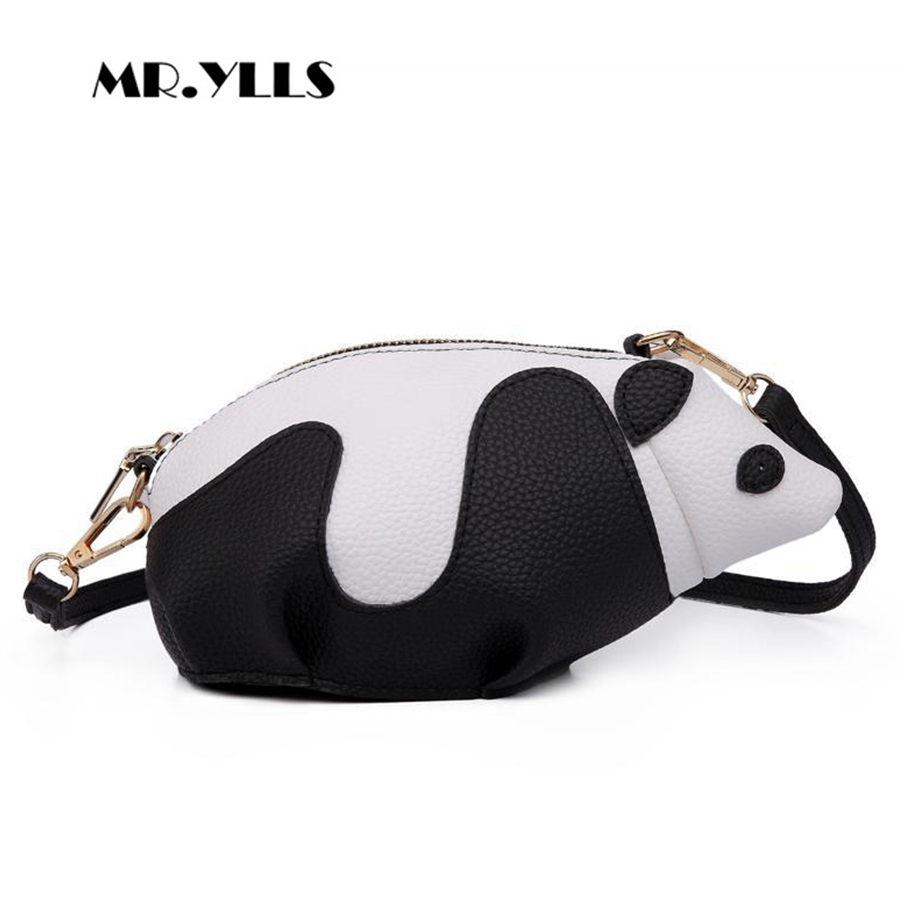 3D Cute Animal Women Messenger Crossbody Bag Kawaii Panda Single Shoulder  Bag For Teenage Girls Brand PU Leather Ladies Bags New 780bab680f0c9