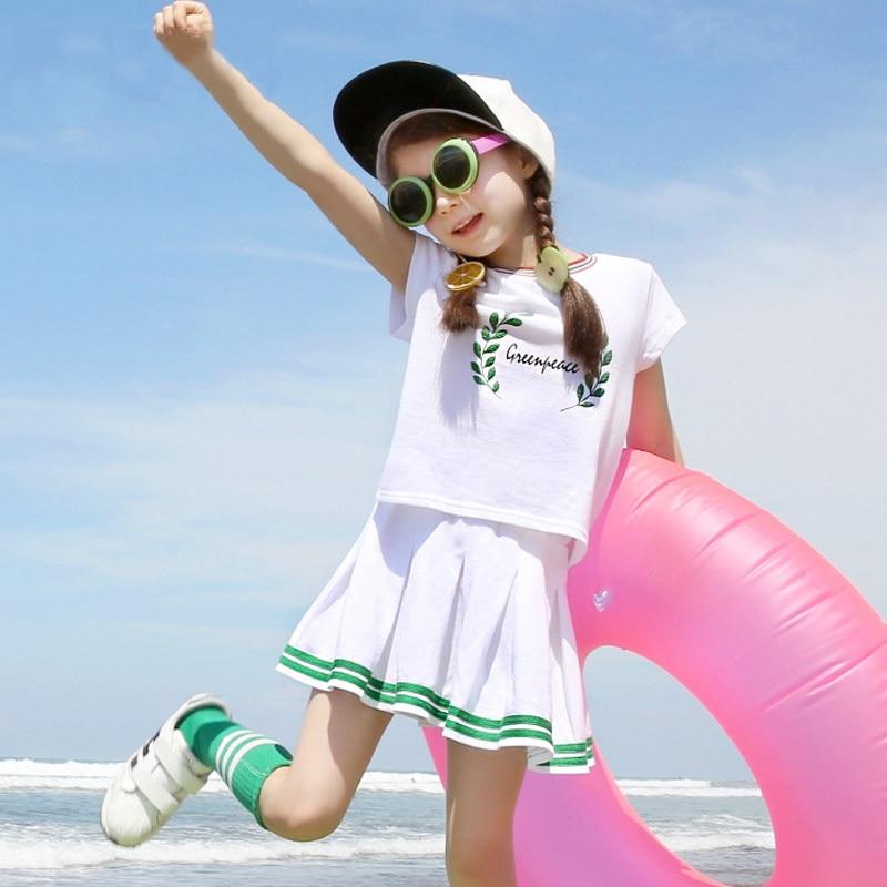 2017 filles 2 pièces tenue enfants Boutique enfants vêtements mode sport actif Costumes pour adolescents 456789 10 11 12 13 14 T ans