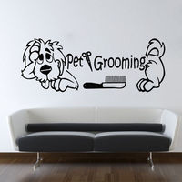 QT018 Wall Decals Pet Grooming Decal Vinyl Sticker Dog Pet Shop Salon Decor