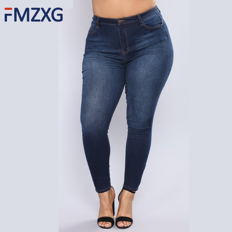 All-Match Women Pants High Quality Slim Stretch Pencil Pants High Waist Jeans Woman Trousers Pantalon Femme Plus Size Mom Jeans