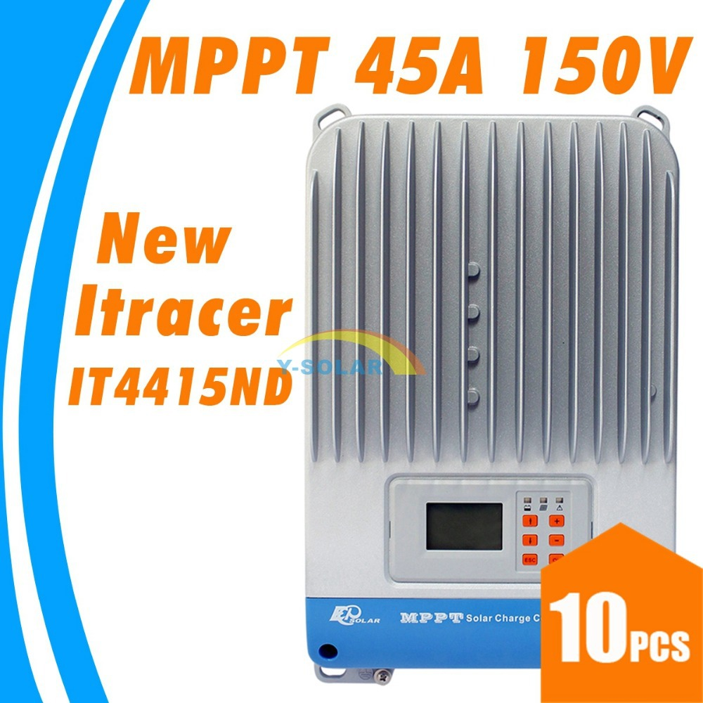 45A MPPT Solar charge controller with LCD dispaly 12V 24V 36V 48V solar panel battery charger controller EPsolar Itracer 4415ND 60a mppt solar charge controller with lcd 48v 24v 12v automatic recognition rs232 interface to communicate with computer smart1