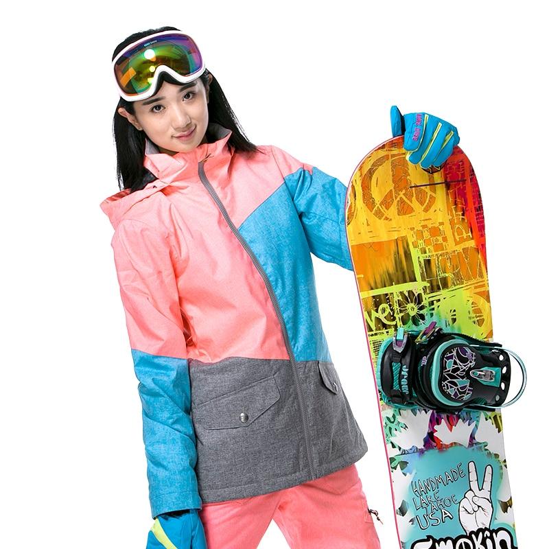 Prix pour Nouveau Gsou SNOW femmes Snowboard ski vestes camping manteau sports de Plein Air Épaissir super usure chaud, étanche