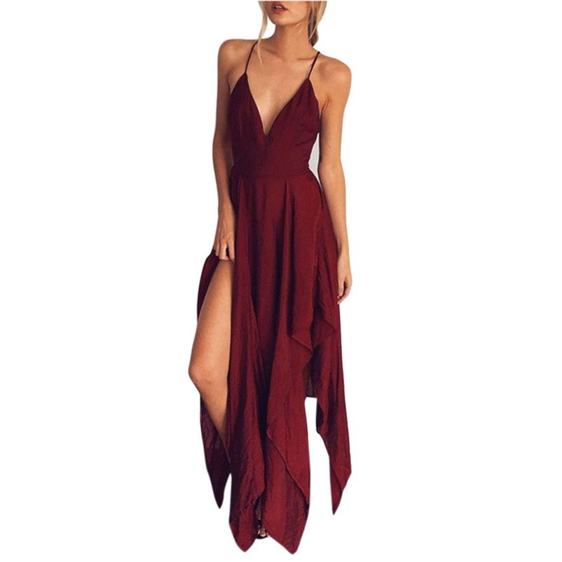 2018 HOT sell Fashion Dress summer Women Boho Long dress-female Party Casual Beach Dress Sundress sexy dress vestido J07#N