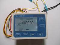 LCD Water Liquid Flow Sensor Digital Display Flowmeter Quantitative Controller