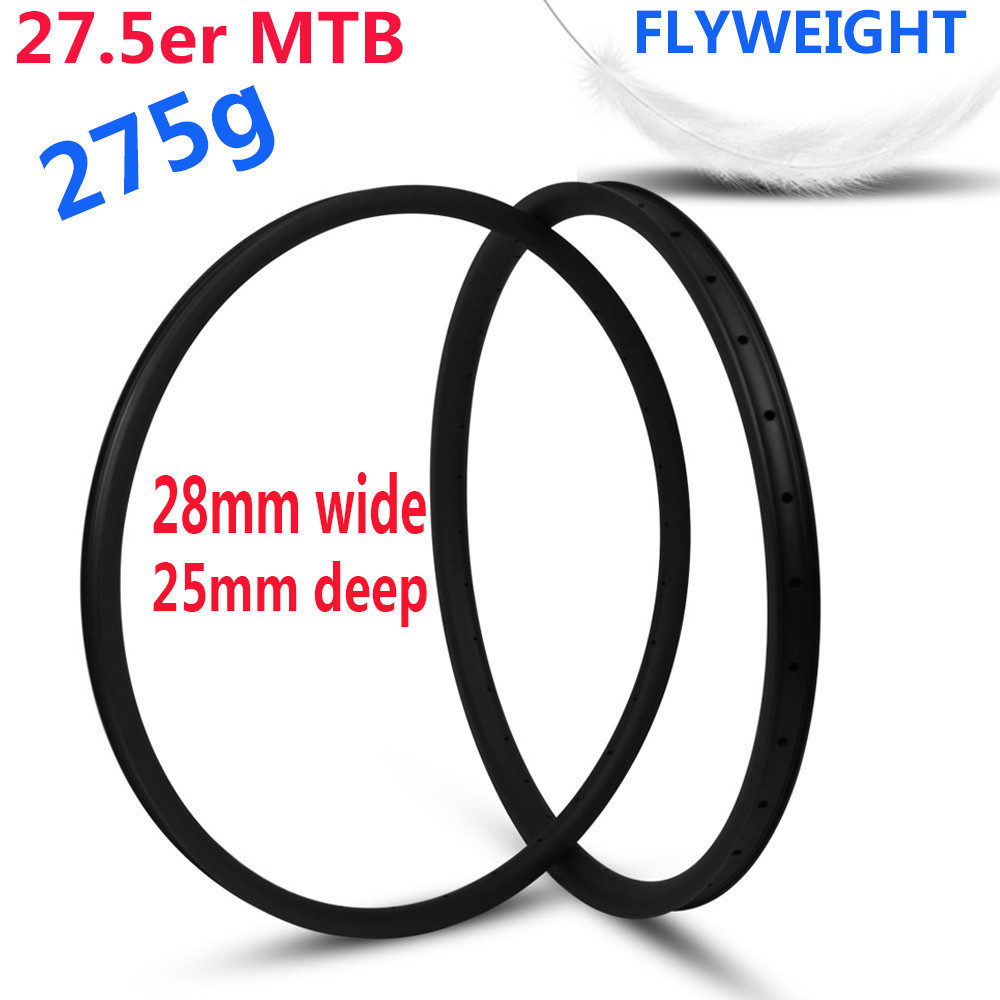 Flyweight 275g Only 27 5er Mountain bike Rim Japan Toray T800 Carbon fiber For XC Cross