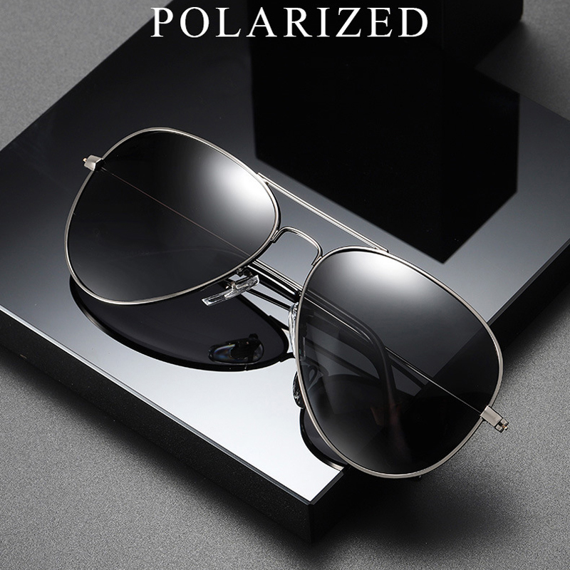 FEISHINI Brand Advanced 16g Stainless Steel Pilot Sunglasses Men Polarized Driving Clear Mirror Sunglass Women UV Protection-in Men's Sunglasses from Apparel Accessories