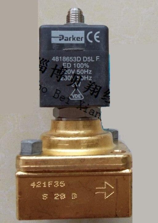 PARKER High Pressure Solenoid Blowing Machine 421F35 AC220V cxa l0612 vjl cxa l0612a vjl vml cxa l0612a vsl high pressure plate inverter
