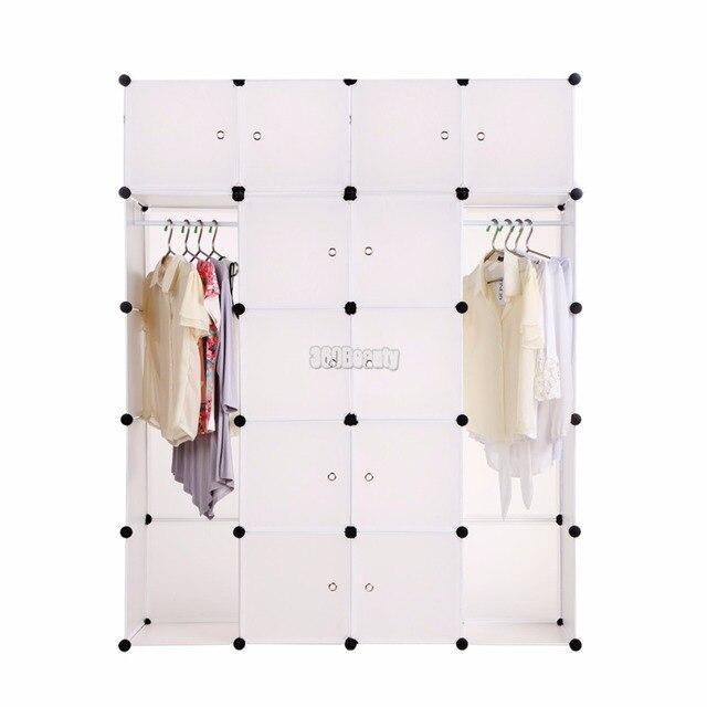 Мода DIY 20 Куб Шкаф Белый Шкаф Шкафы Шкаф Организатор Хранения Мебель Для Спальни