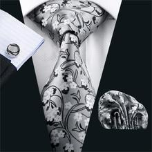 2016 Classic Ties For Men Novelty Silk Jacquard Woven Necktie Hanky Cufflink