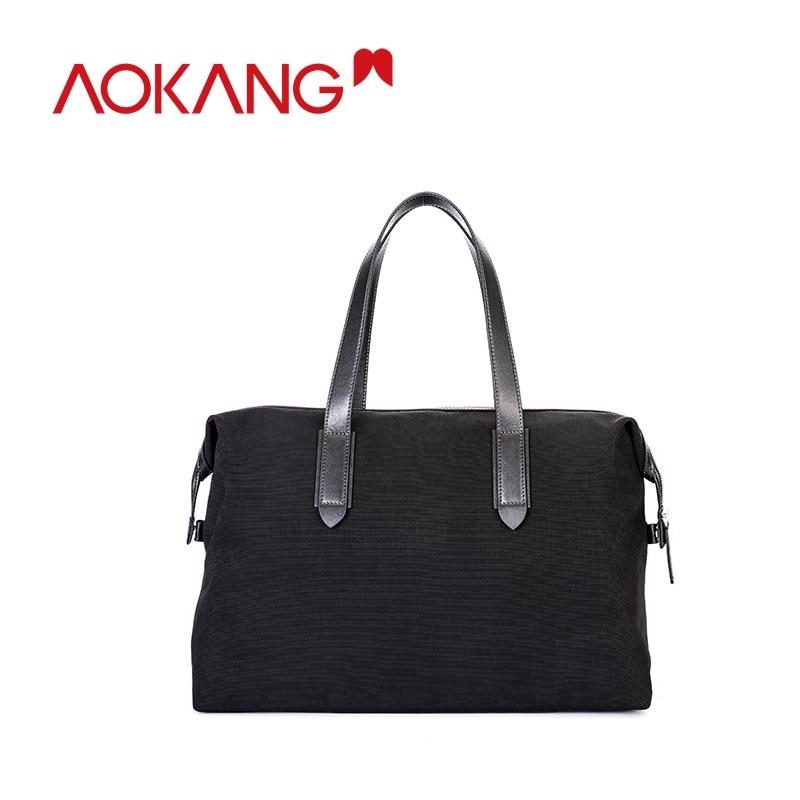 AOKANG 2019 New Arrival Men Lather Briefcase  Fashion Handbags For Man Sacoche Homme Laptop Bag Man Shoulder Bag Bolsa Maleta