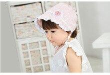 YOOAP Newborn Baby Summer Hat For Girls Bonnet Princess Hollow Sun Cap Lace Beanie Cotton Kids Flower
