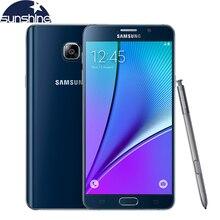 """Ursprünglicher freigesetzter samsung galaxy note 5 n9200 4g lte handy 16mp 5,7 """"gb ram 32 gb rom octa-core nfc smartphone"""