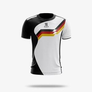 Image 2 - カスタム男性/女性スポーツドライ通気性バドミントンシャツ、卓球チームゲームトレーニングエクササイズフィットネススポーツ Tシャツ