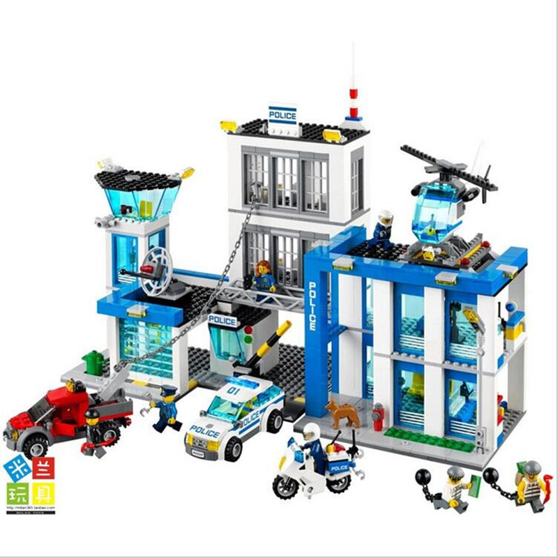 BELA 10424 Compatible Lepin City  Block Police Station 60047 Building Bricks Emma Mia Figure Toys For Children Girls lepin 631pcs city police station kazi 6725 building blocks action figure baby toys children building bricks brinquedos kid gift