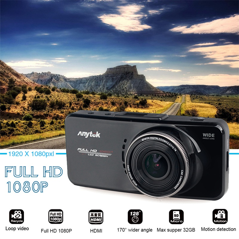 Original Anytek AT66A Car DVR full HD Novatek 96650 Car font b Camera b font Recorder