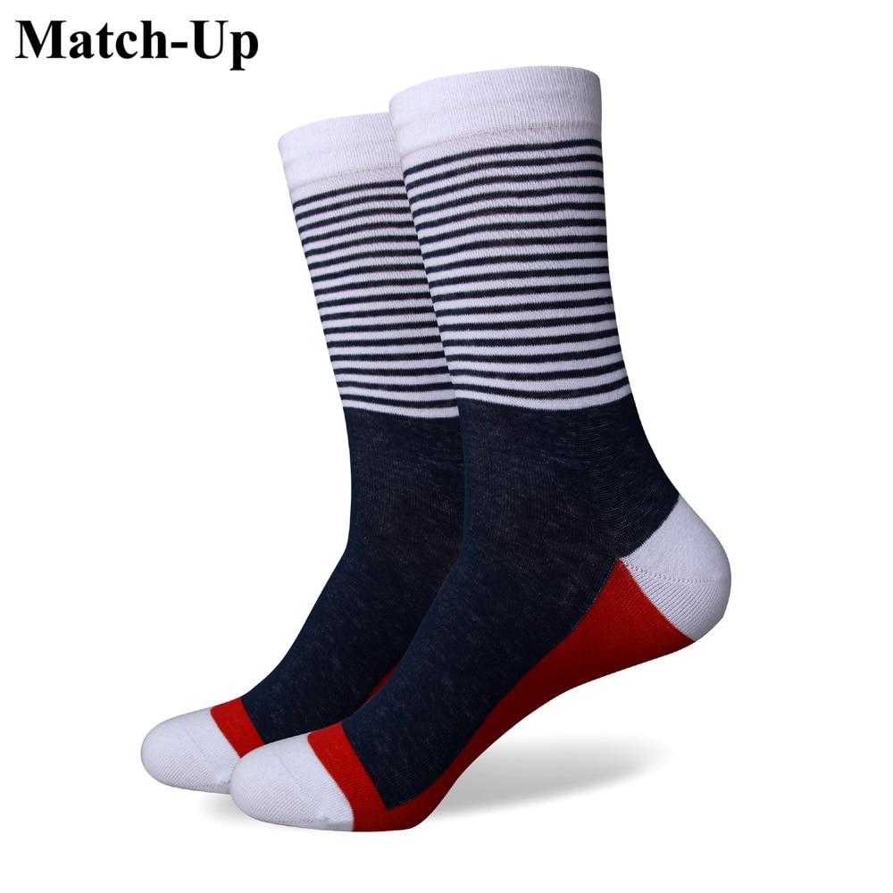 Match-Up  Men Stripe Colorful Socks Crew Socks
