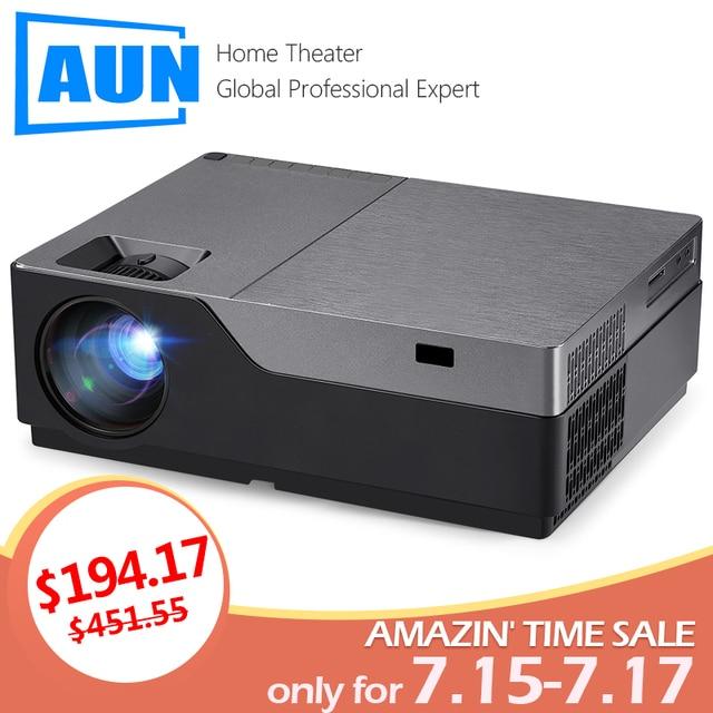 AUN Full HD M18UP, Độ Phân Giải 1920x1080 P. Android WIFI LED 4K Video máy cân bằng Laser 1. (Tùy chọn M18 Hỗ Trợ AC3)
