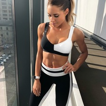 Sports Clothing Women Yoga Sets Gym Running Sport Suit Fitness Clothing Workout Sport Wear Bra Yoga Pants Tracksuit Sexy Female