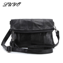 Luyo Fashion Genuine Leather Vintage Shoulder Handbags Women Messenger Bags Crossbody Bags For Women Bag Neutral Small Clutch