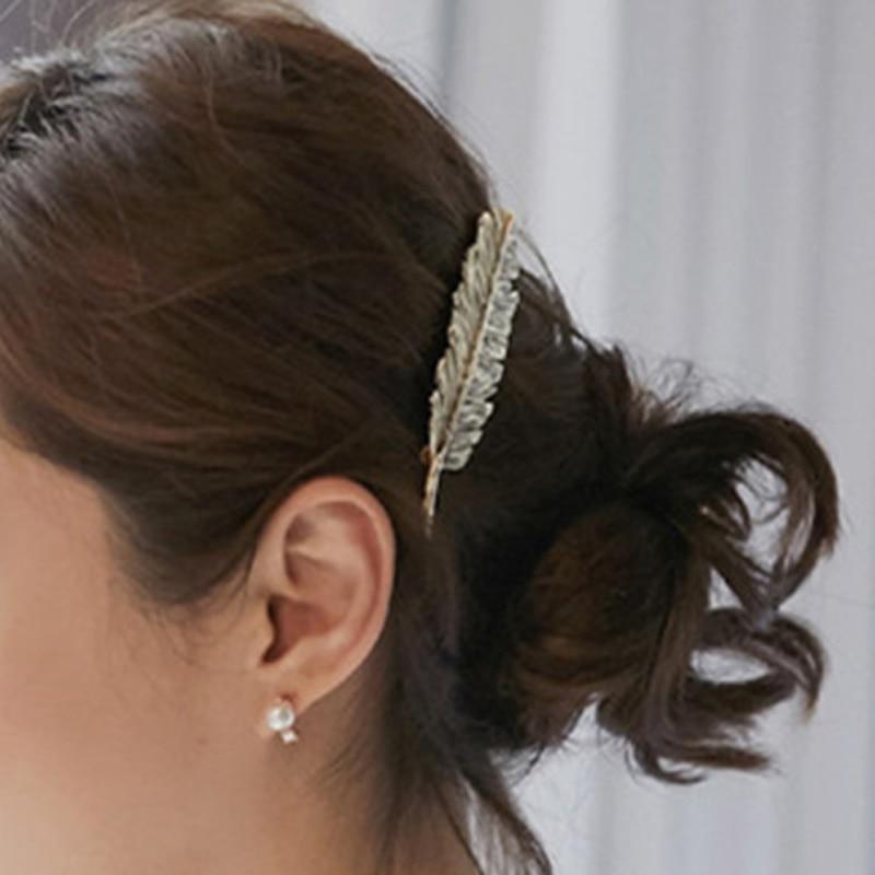 LNRRABC ლითონის ფოთლების თმის - მოდის სამკაულები - ფოტო 4