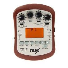 NUX PG-2 alta calidad portátil guitarra eléctrica Multi-efectos Pedal procesador 3 pre-amp 6 efectos de modulación con sintonizador metrónomo